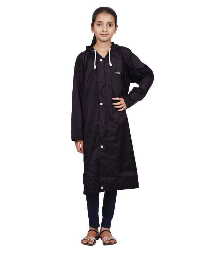 Versalis Kids's Raincoat - Hide N Seek (Purple - 7-8 Years)