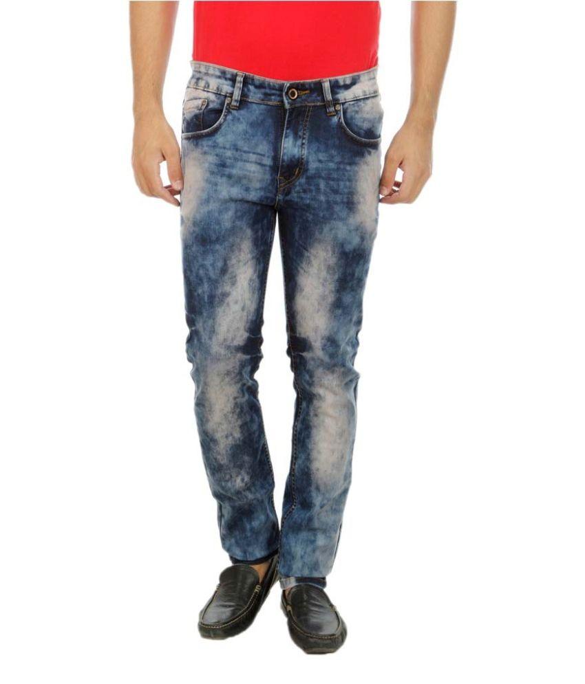 D-Rock Blue Slim Fit Faded