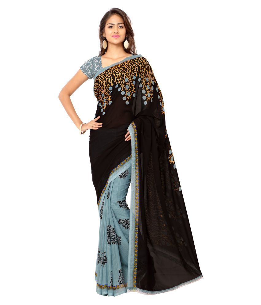 K.C. Multicoloured Georgette Saree