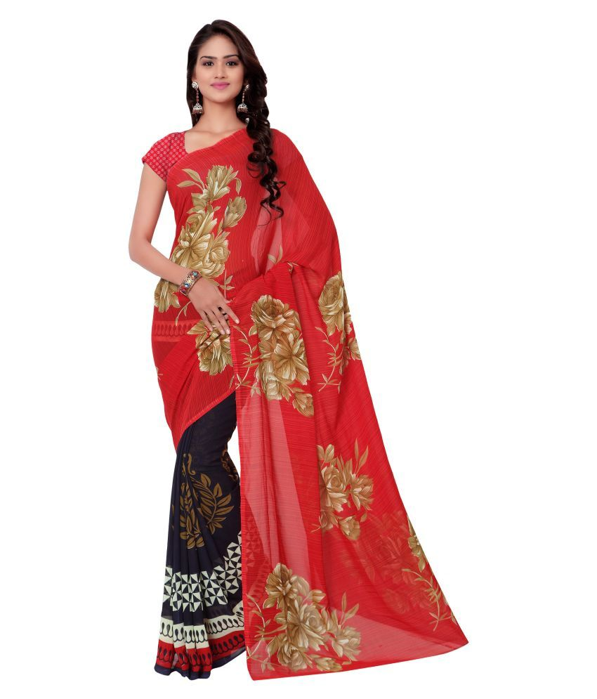 Exclusive Designer Multicoloured Georgette Saree