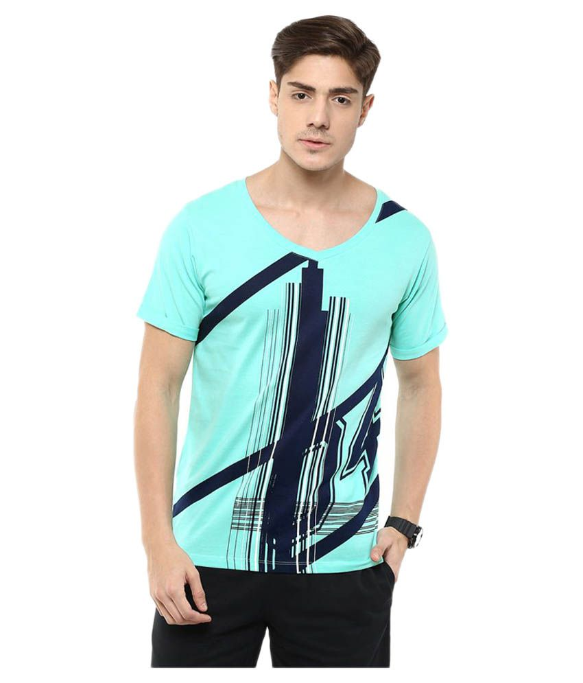 Yepme Blue V-Neck T-Shirt