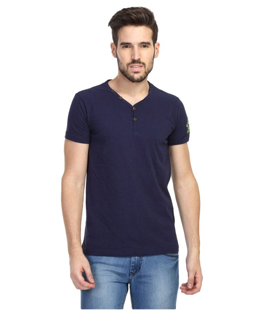 Rugby Navy Henley T-Shirt