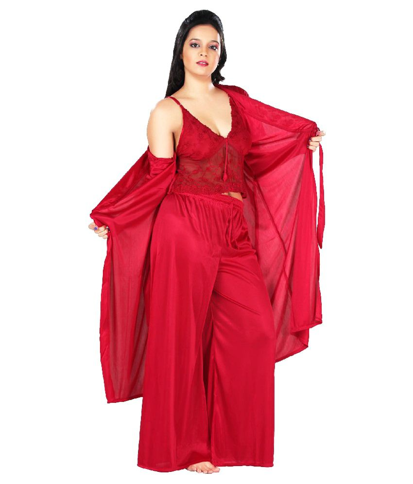 bcbec0a87b Buy Boosah Satin Nightsuit Sets Online at Best Prices in India - Snapdeal
