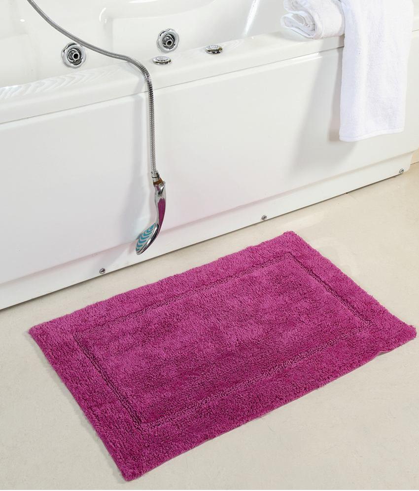 Homefurry Purple Cotton Floor Mat