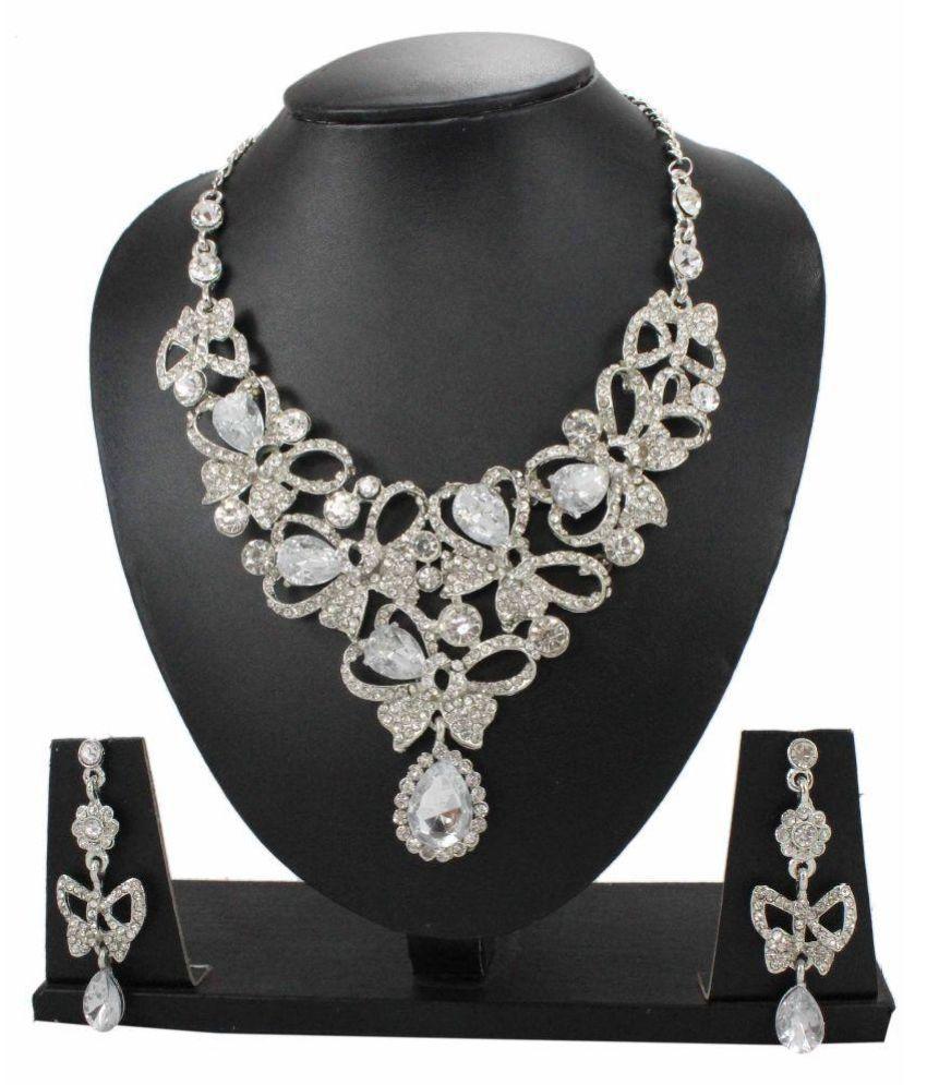Jumkey White Necklace Set