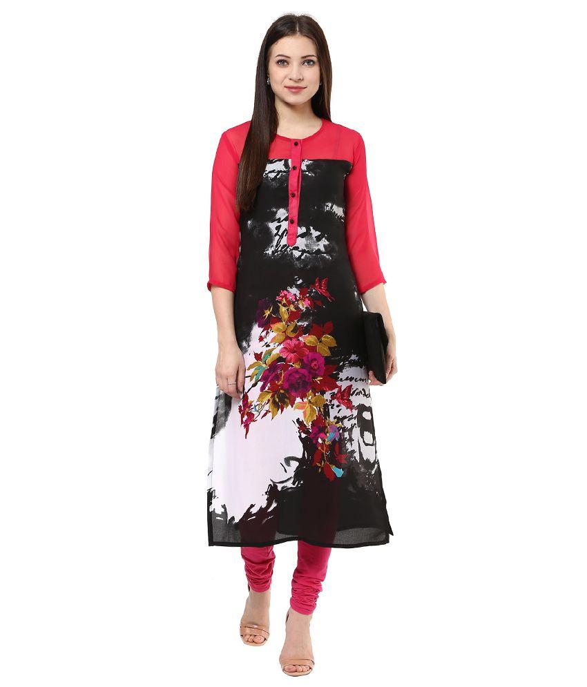 Shakumbhari Pink Cotton Kurti
