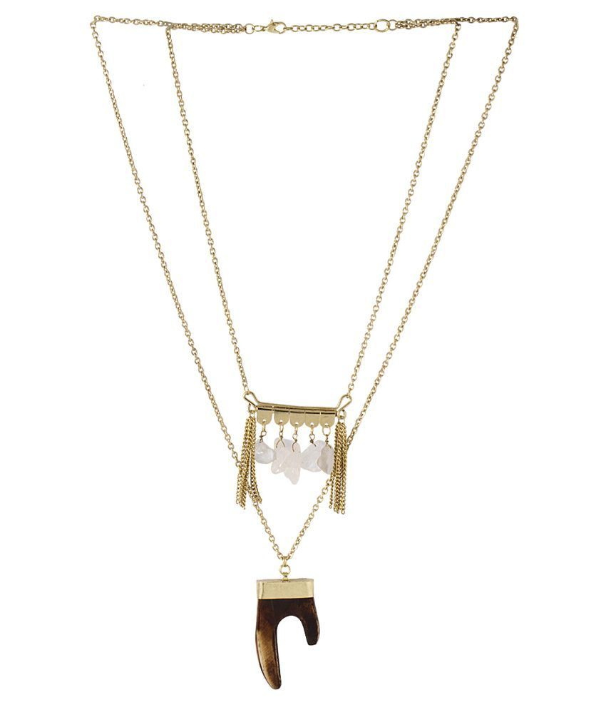 Voylla Yellow Alloy Necklace