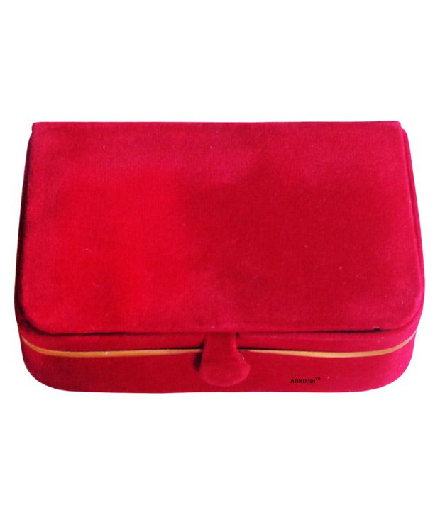 ABHINIDI Red Wood Jewellery Box