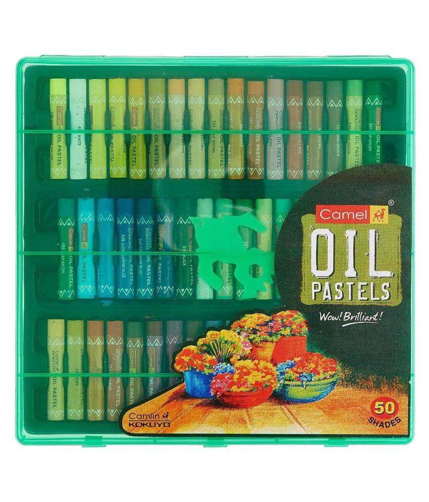Camlin Multicolour Oil Pastels - 50 Shades