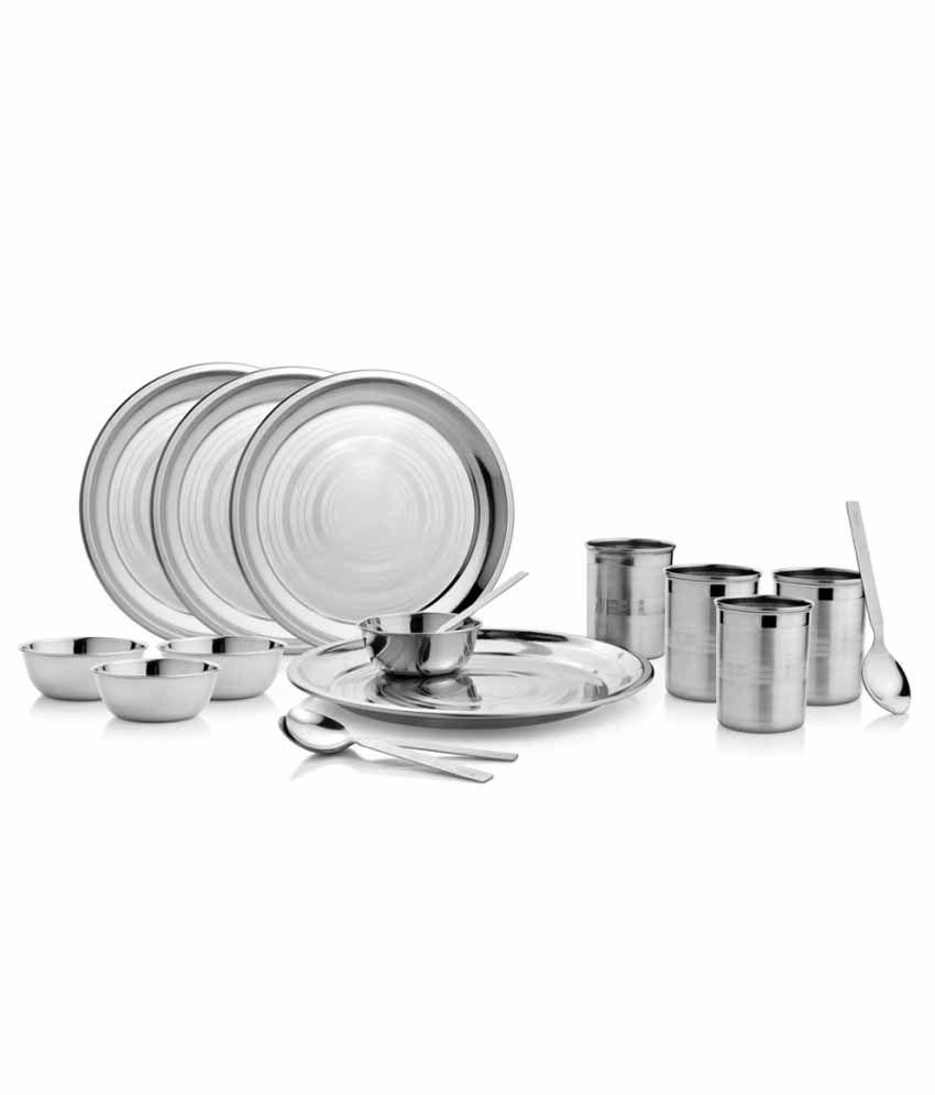 Kitchen Pro Stainless Steel Dinner Set - 16 Pcs