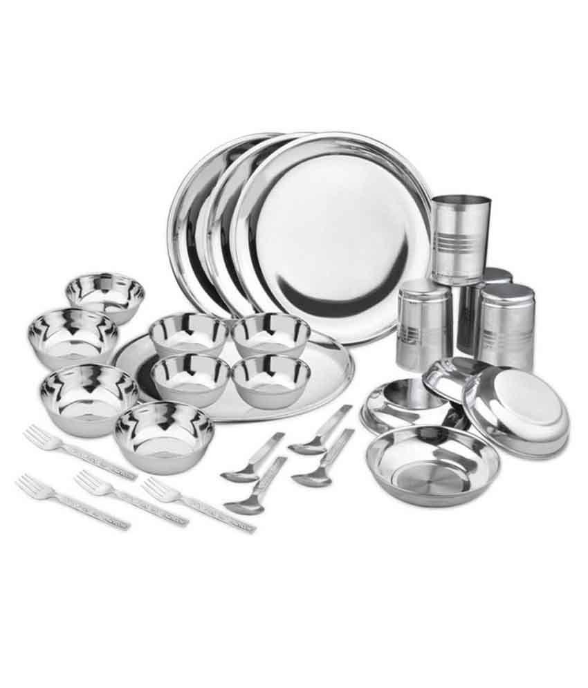 Kitchen Pro Stainless Steel Dinner Set - 28 Pcs