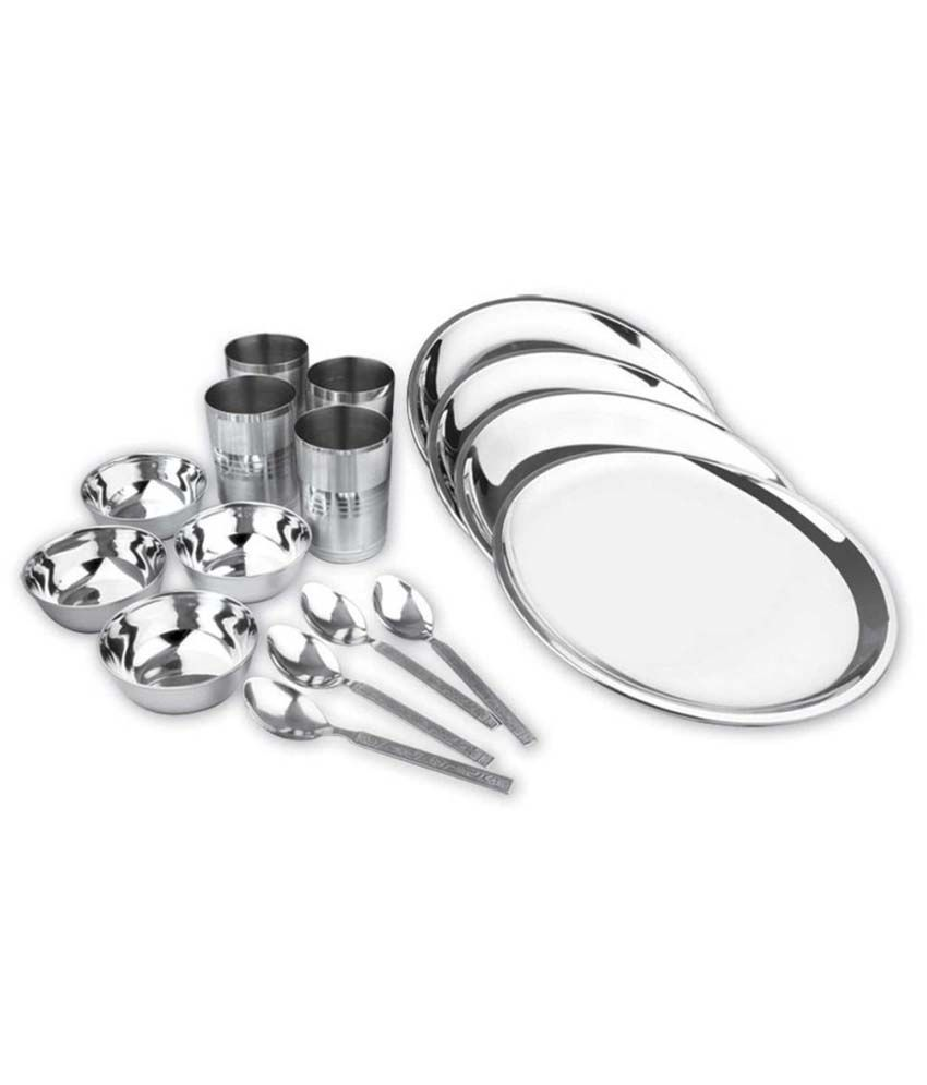 Kitchen Pro Stainless Steel Dinner Set - 16 Pcs