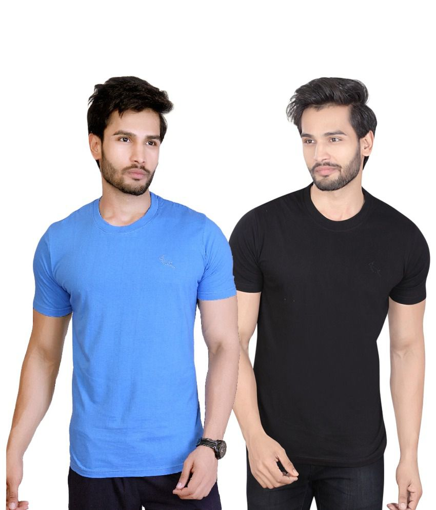 LUCfashion Blue Round T-Shirt