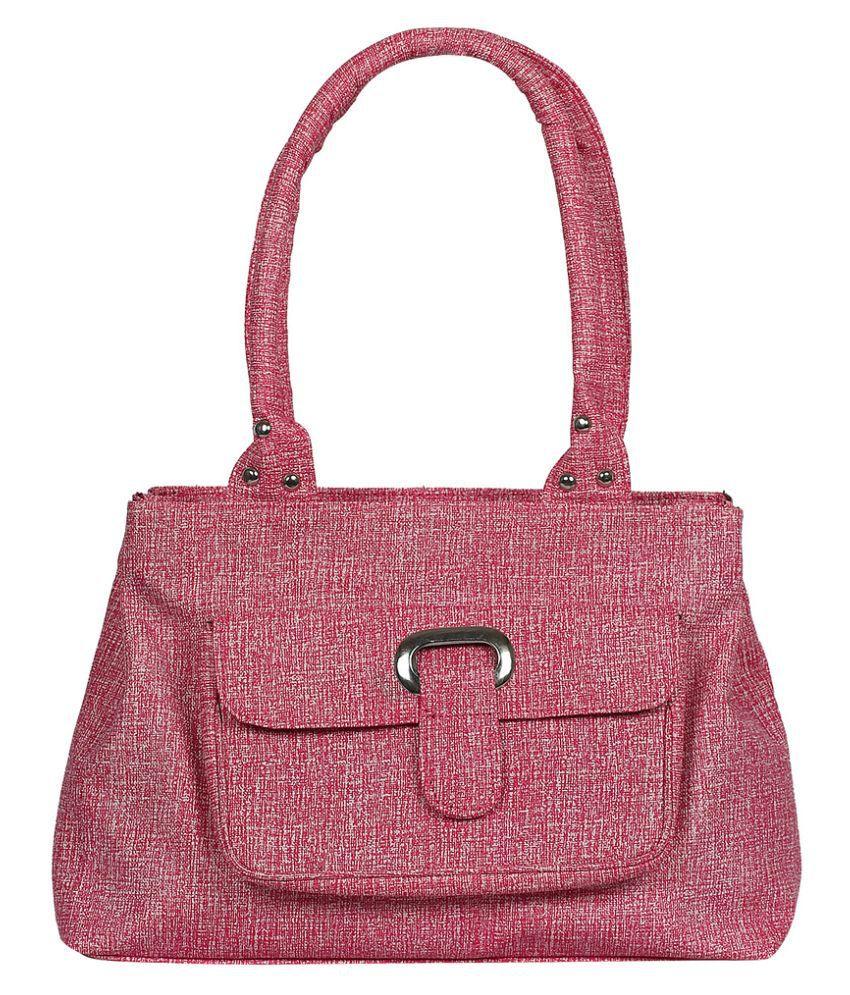 Fashno Pink Faux Leather Shoulder Bag