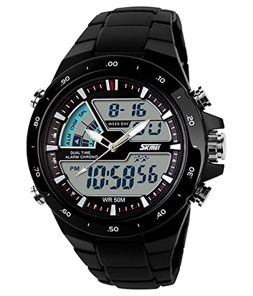 47d888f79 Skmei Black Analog-Digital Sports Watch - Buy Skmei Black Analog-Digital  Sports Watch Online at Best Prices in India on Snapdeal