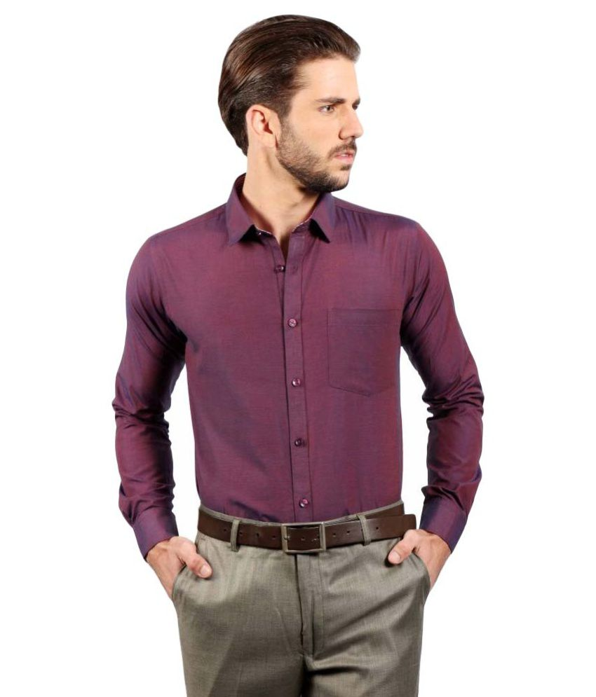Solemio Purple Formal Slim Fit Shirt Buy Solemio Purple