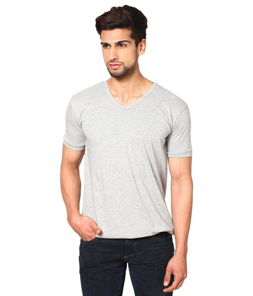 Unisopent Designs Grey V-Neck T-Shirt