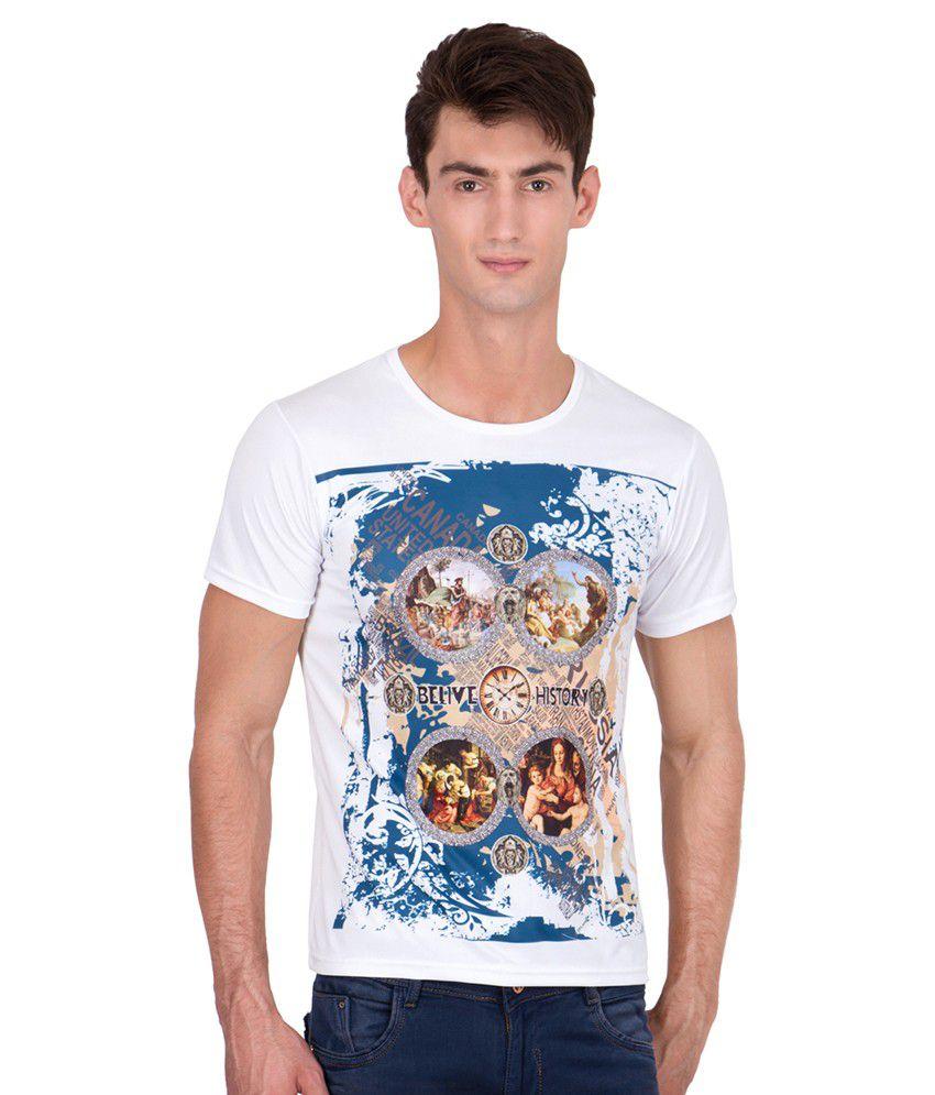 Xscape White Round T-Shirt