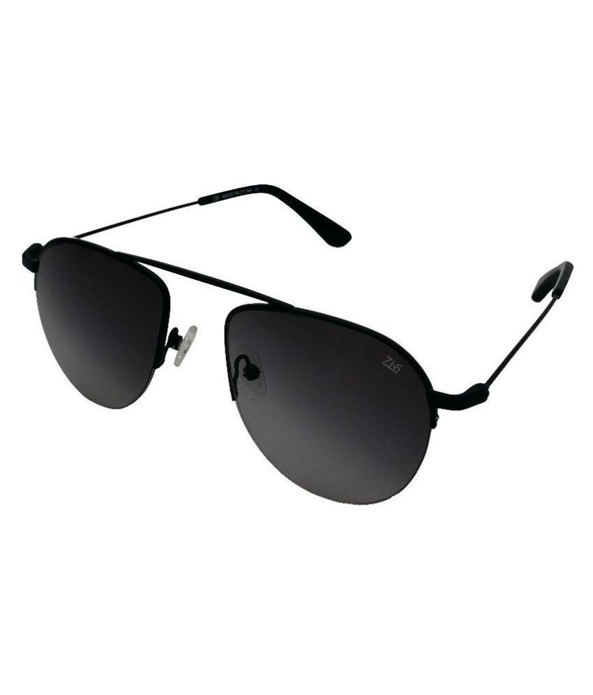 Zins Black Aviator Sunglasses ( SRP C2 )