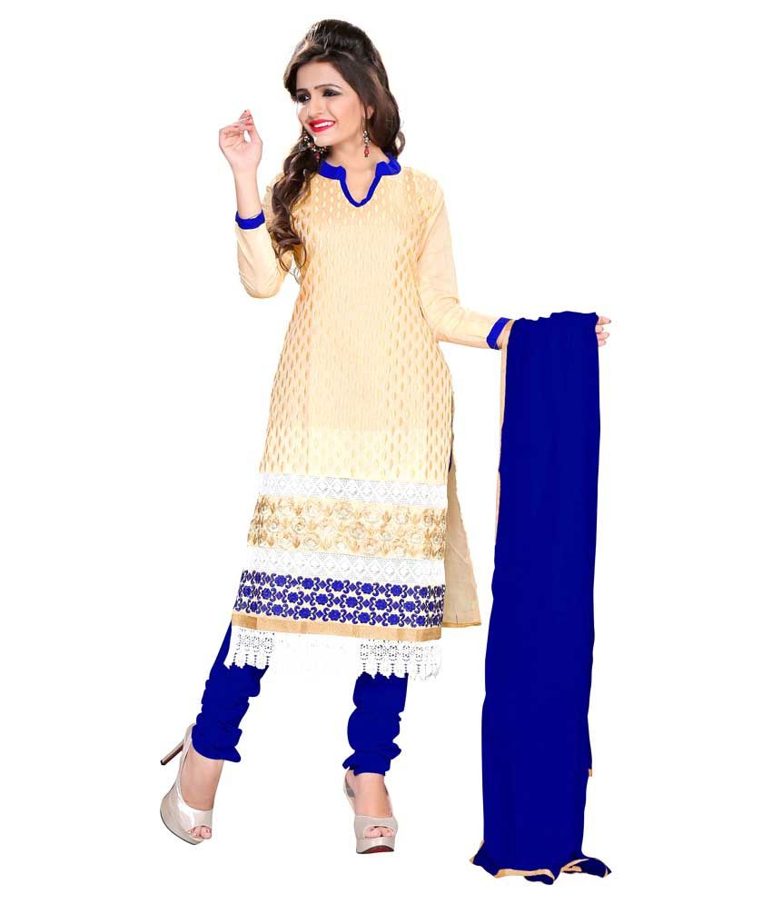 6375c06a492 Blissta Beige Chanderi Straight Unstitched Dress Material available at SnapDeal  for Rs.1048