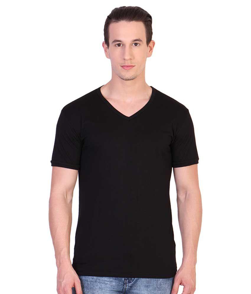 Katsodesigns Black V-Neck T-Shirt