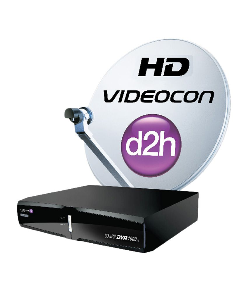 Videocon d2h HD DVR New South Platinum HD Pack with 1 Year Subscription Free
