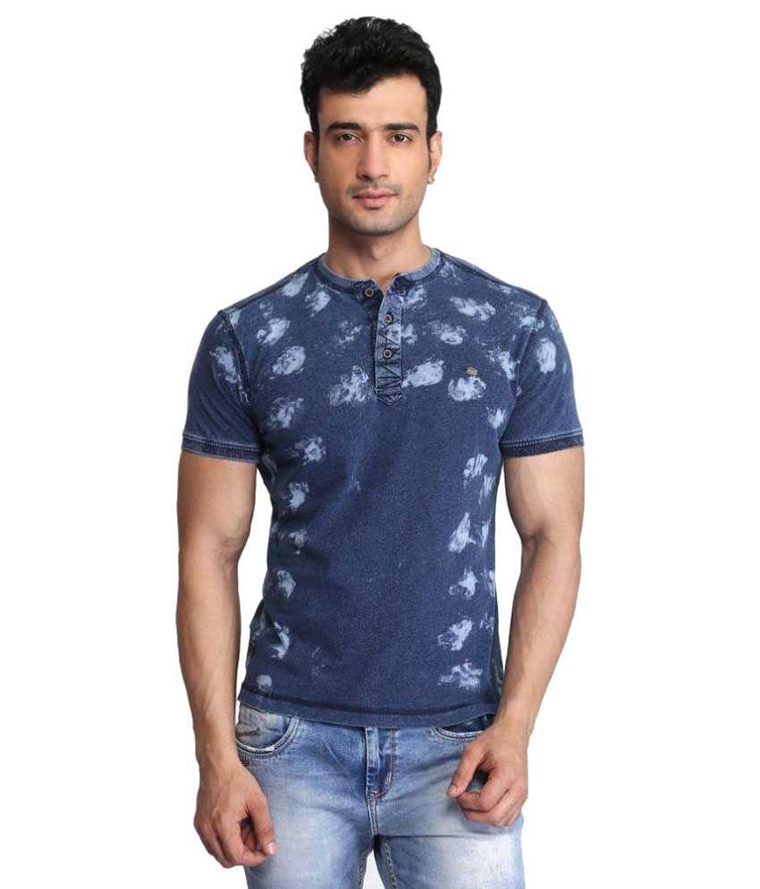 Glabrous Blue Henley T-Shirt