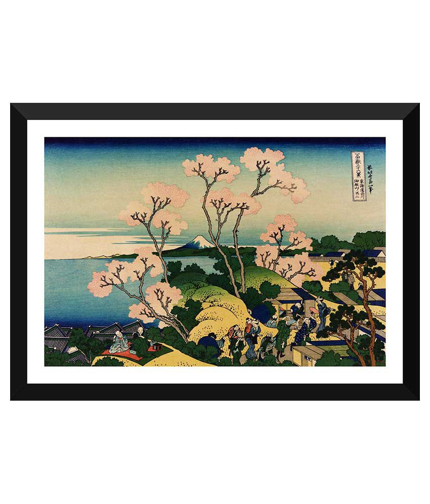 Tallenge Japanese Art Paper Art Prints With Frame Single Piece
