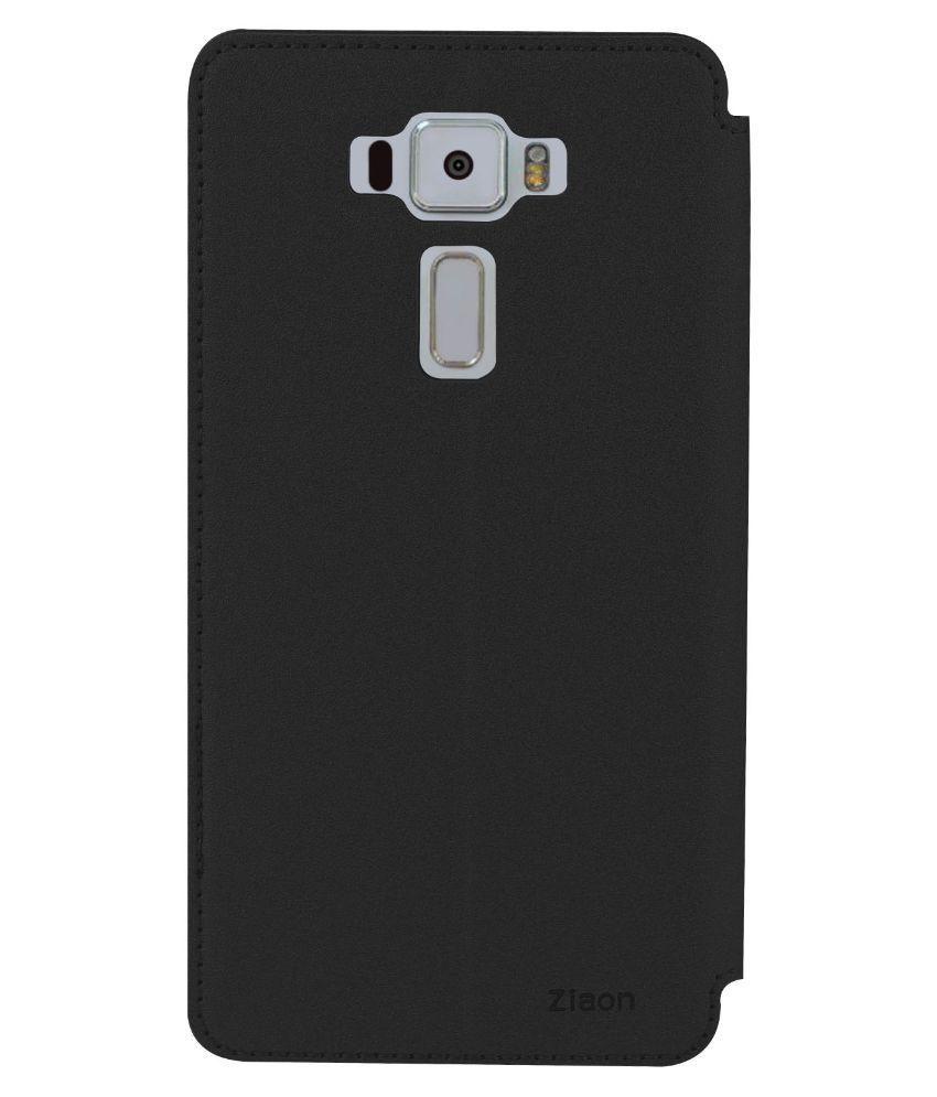 timeless design c969d bc41c Asus Zenfone 3 ZE552KL Flip Cover by Ziaon - Black
