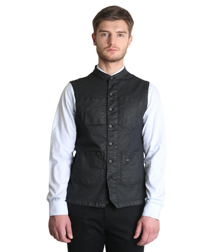 BLACKBERRYS Black Skinny Fit Waistcoat