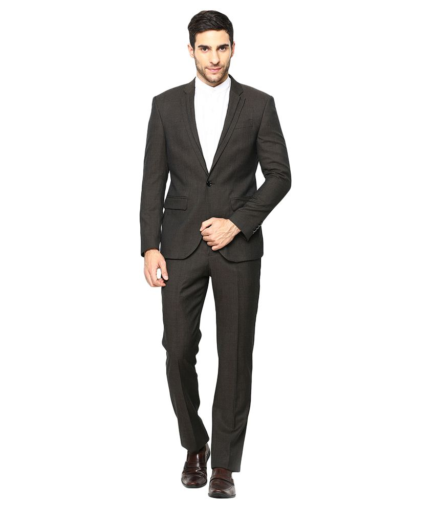 BLACKBERRYS Grey Slim Fit Single-Breasted Suit