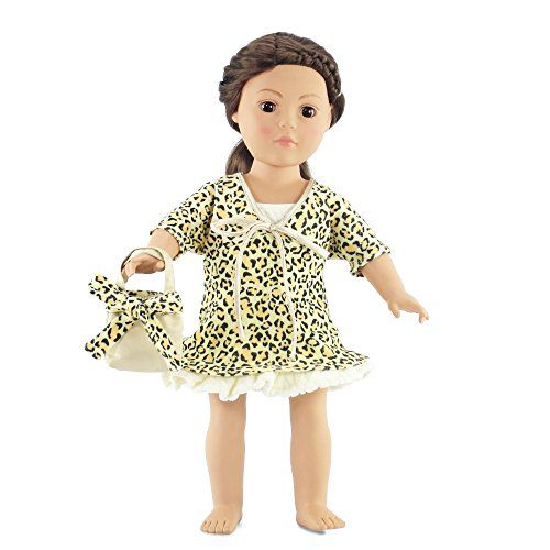 115c4861e ... 18 Inch Doll Movie Star 50s Bathing Suit Dress | Fits 18
