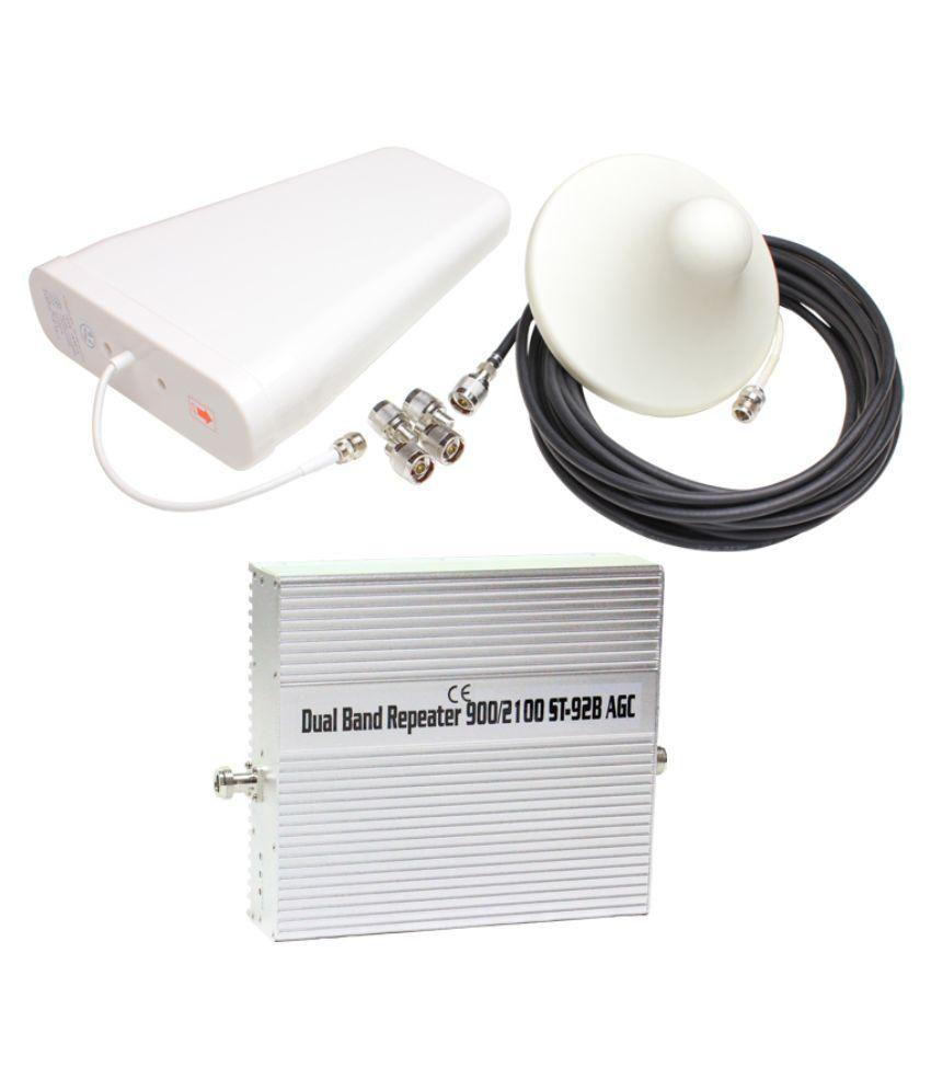 Lintratek 900-2100Mhz Dual Band 2G + 3G Booster ST-92B 3200 RJ11 White
