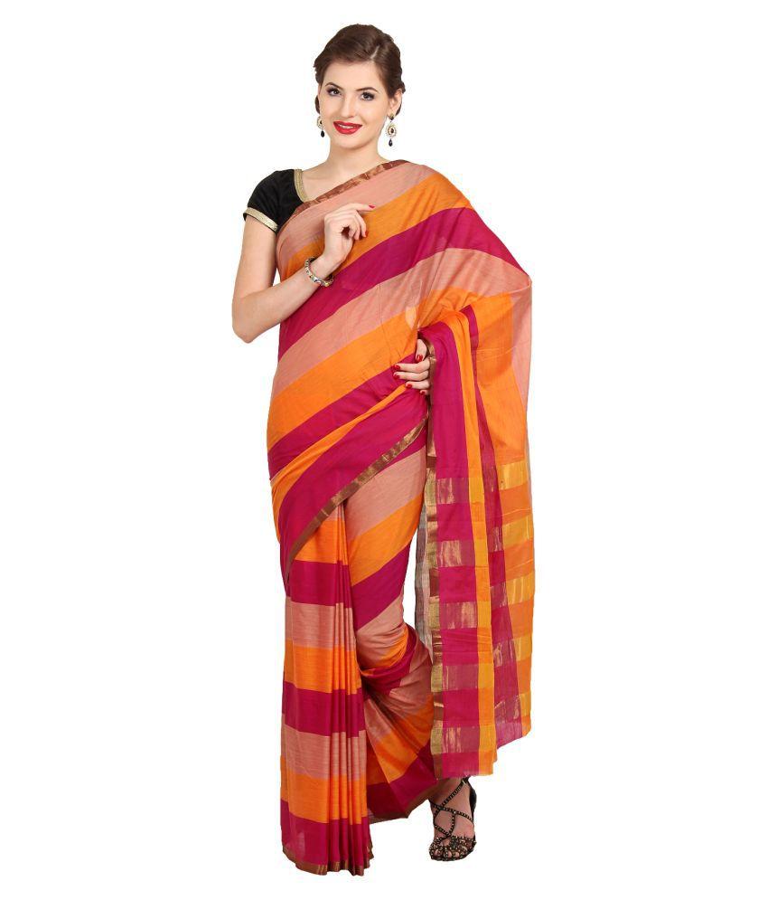 Parchayee Multicoloured Cotton Saree