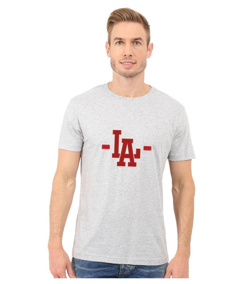 Redfool Fashions Grey Round T-Shirt