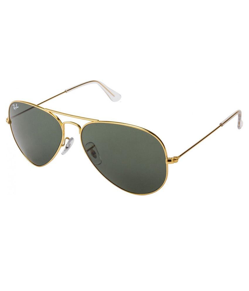 aviator ray ban rb3025  Ray-Ban Green Aviator Sunglasses (RB3025 L0205 58-14) - Buy Ray ...