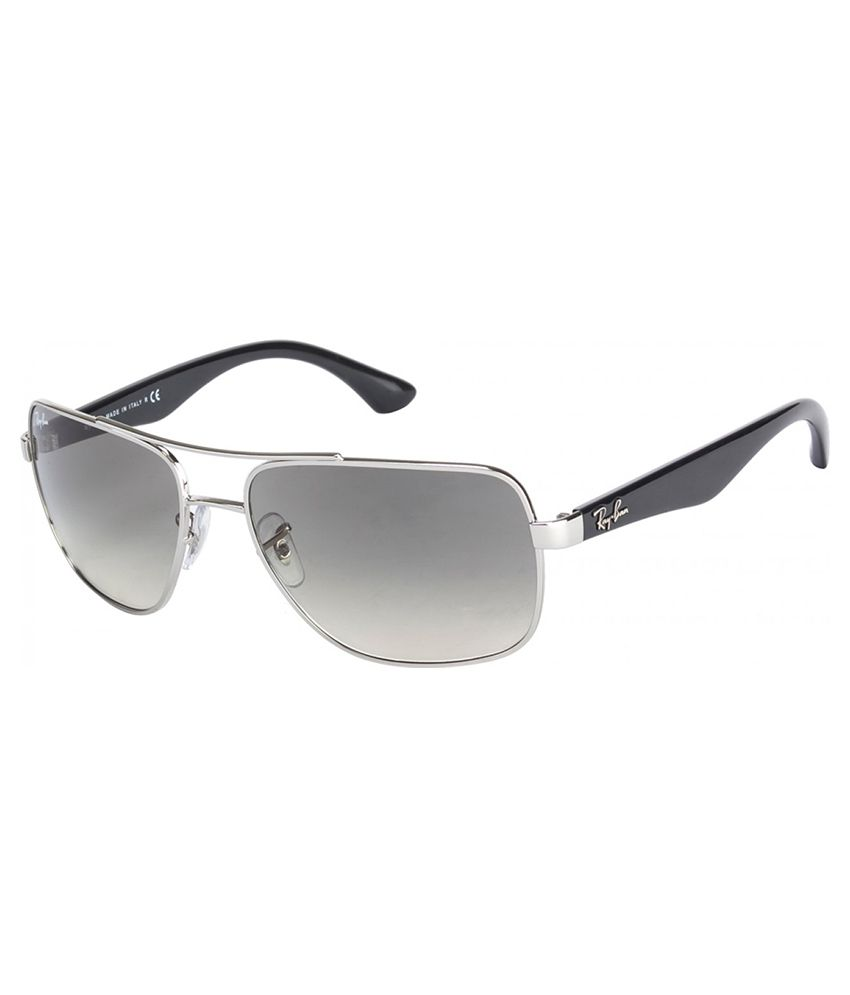 907e740fec Ray-Ban RB3483 003 32 Square Silver   Grey Sunglasses - Buy Ray-Ban RB3483  003 32 Square Silver   Grey Sunglasses Online at Low Price - Snapdeal