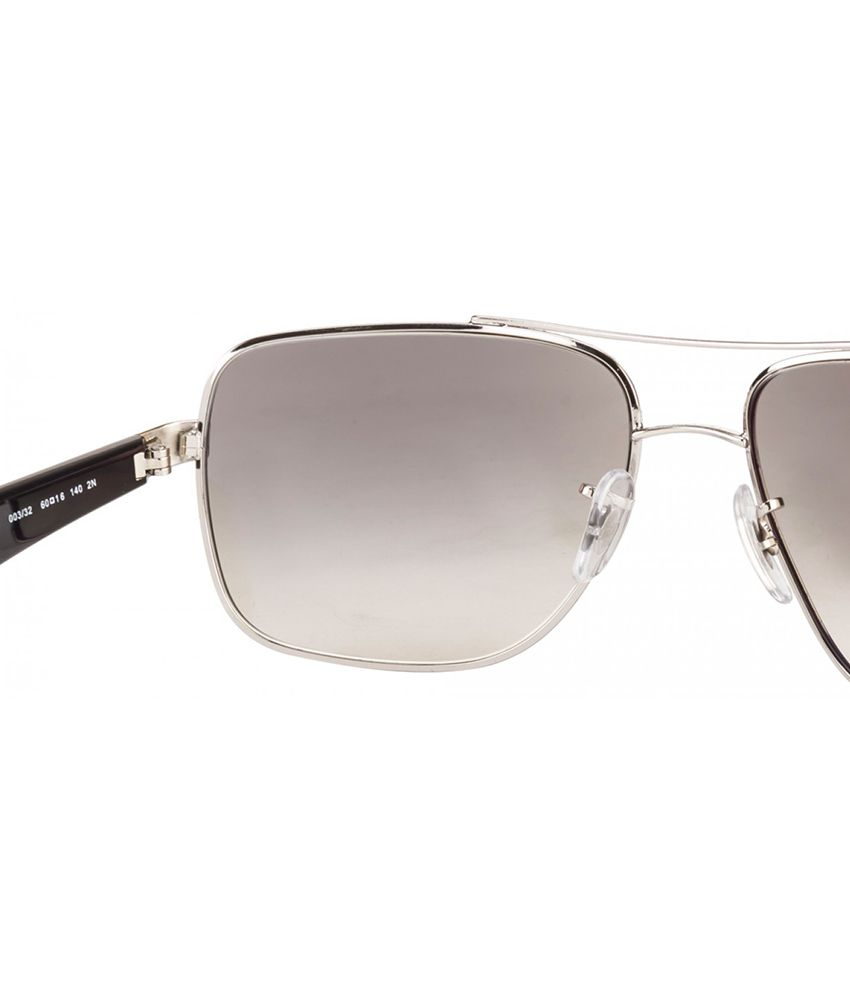 ef58a41eae Ray-Ban RB3483 003 32 Square Silver   Grey Sunglasses - Buy Ray-Ban ...