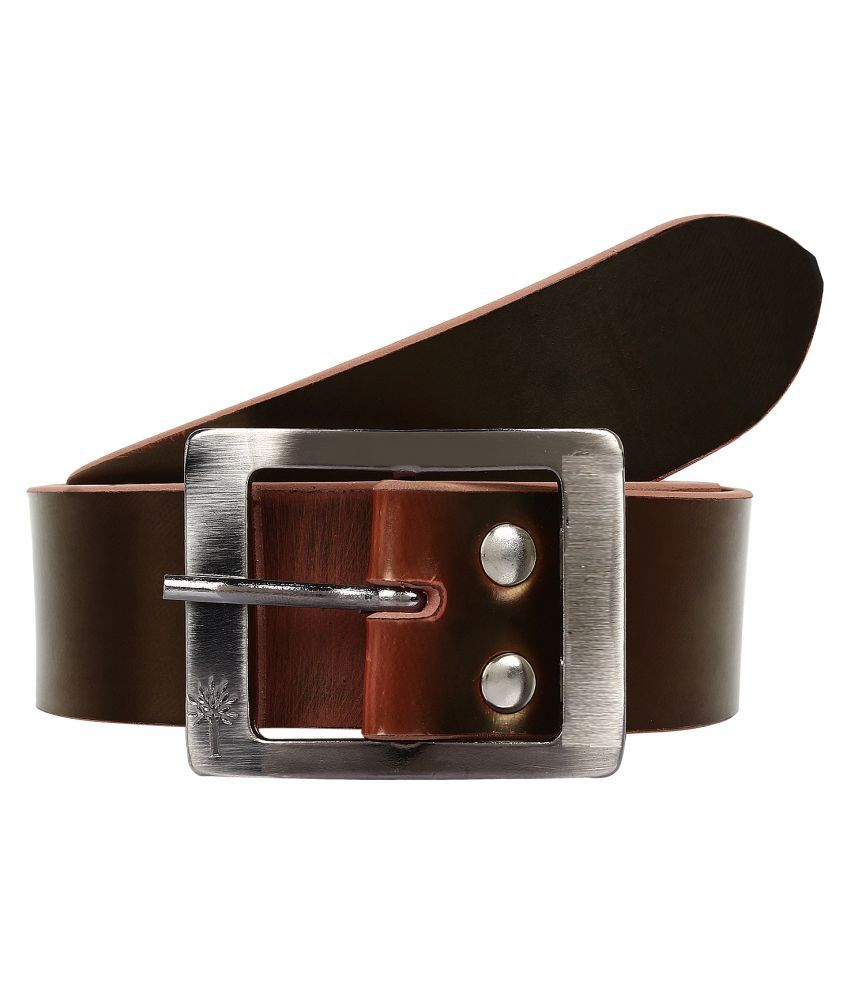 Super Matteress Brown Faux Leather Casual Belts