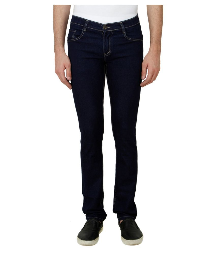 Haltung Navy Blue Slim Solid