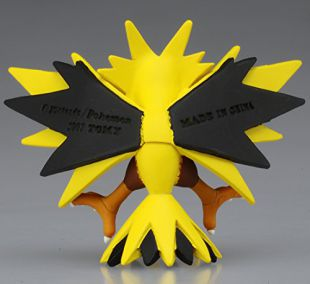 """Takaratomy Official Pokemon X and Y MC-051 2/"""" Zapdos Action Figure"""