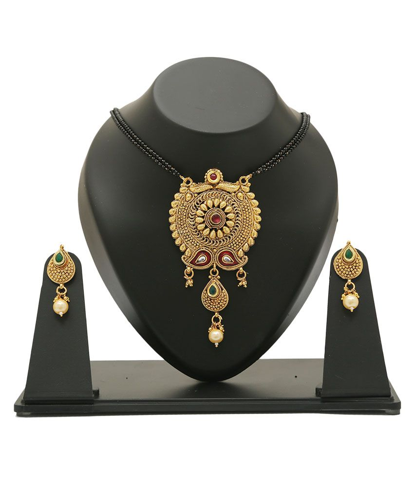 D Hargan Golden Mangalsutra Set