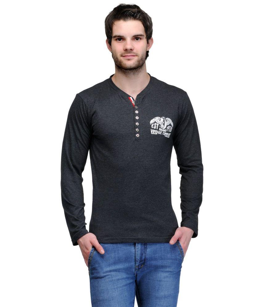 TSX Black Henley T-Shirt