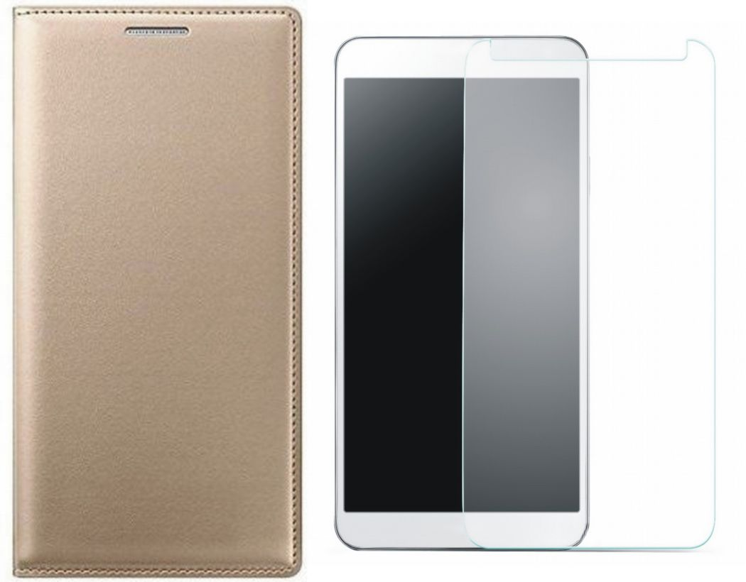 Matrix Flip Cover for Lenovo K5 Plus with Tempered Glass Screen Protector