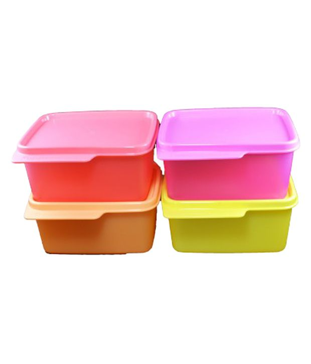 Tupperware Multicolour Polypropylene Food Containers   Set of 4
