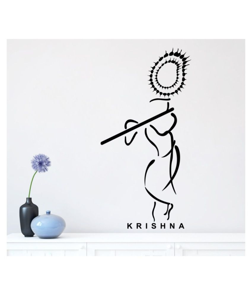 Wallskart krishna fine line art vinyl wall stickers buy wallskart krishna fine line art vinyl wall stickers online at best prices in india on snapdeal