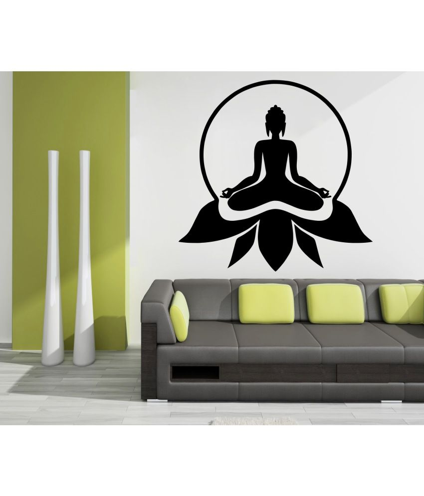 Exceptional Wallskart Lord Buddha Vinyl Wall Stickers ...