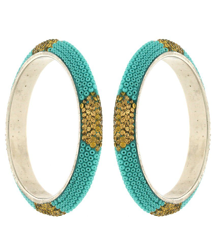 Anuradha Art Green Bangle - Set of 2