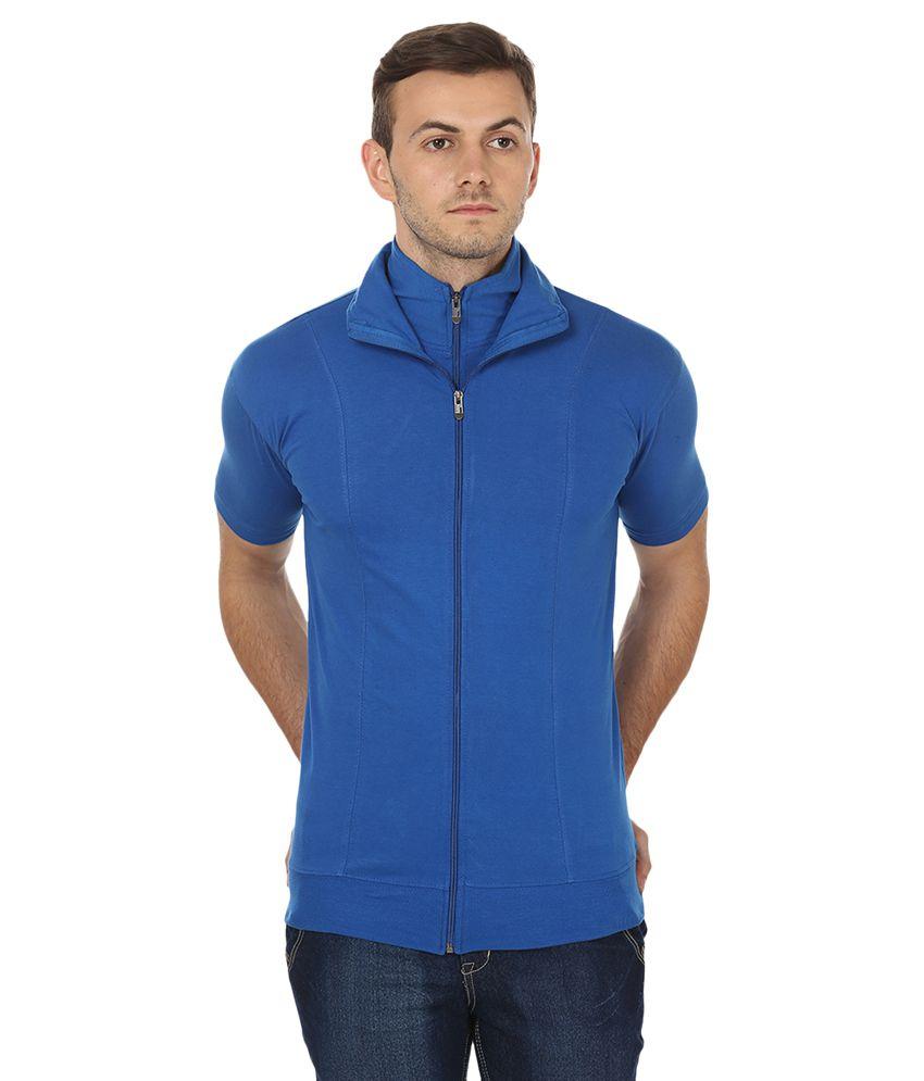 Black Collection Blue High Neck T-Shirt