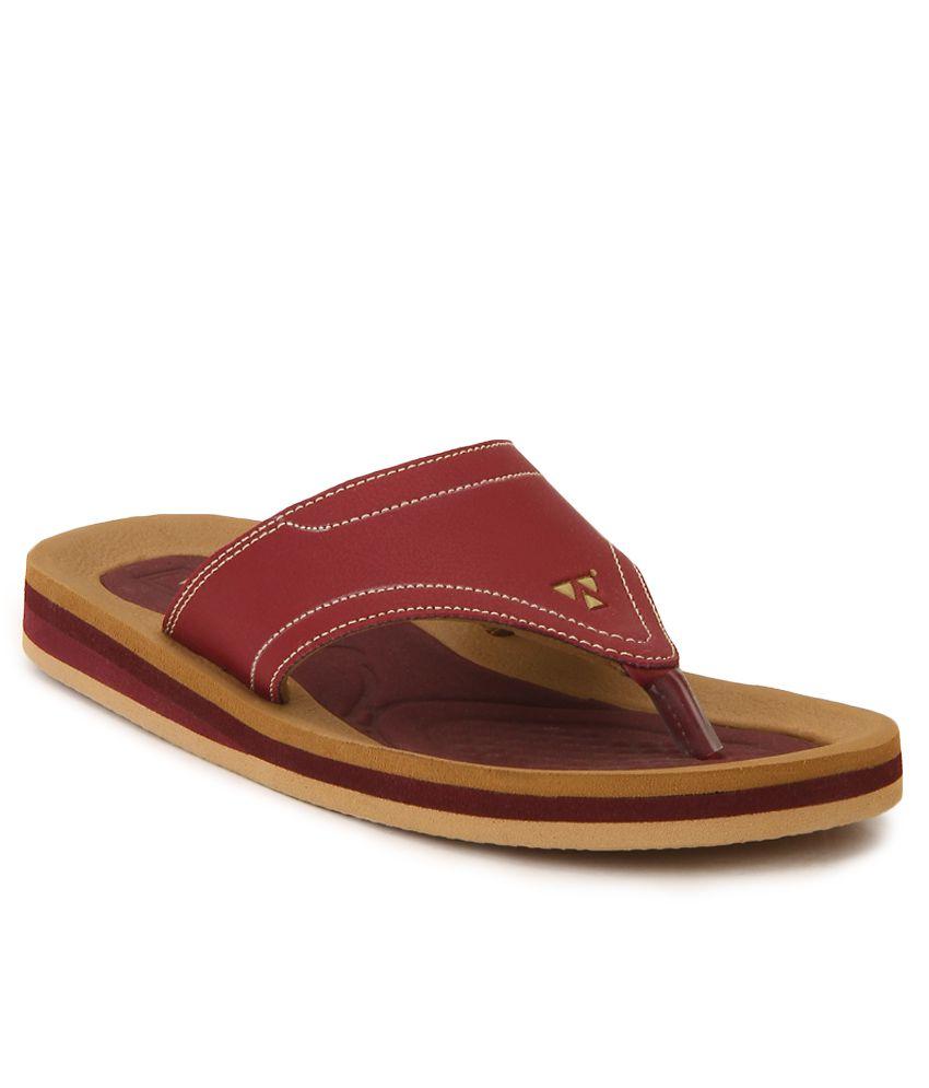 Windwalker Pinho 2Maroon & Brown Slippers